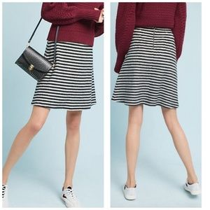 Anthropologie Maeve  Mod Striped Knit Skirt., Sz 8